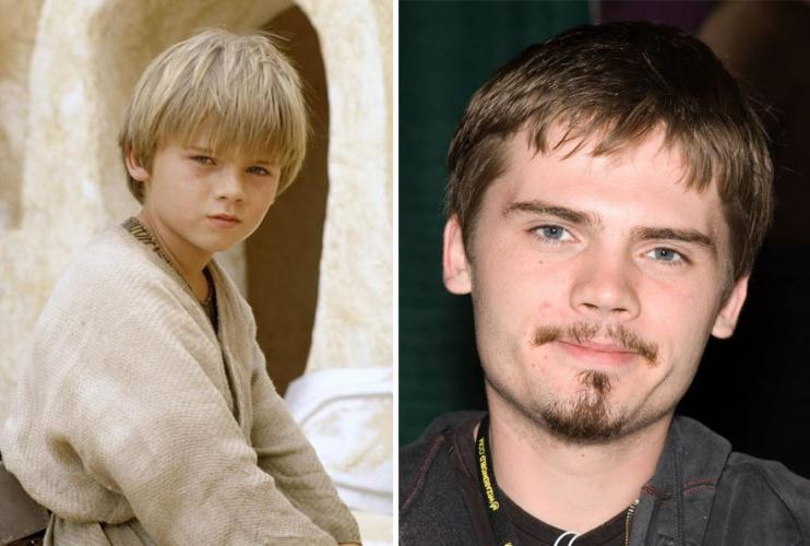 Young Anakin Skywalker then and now