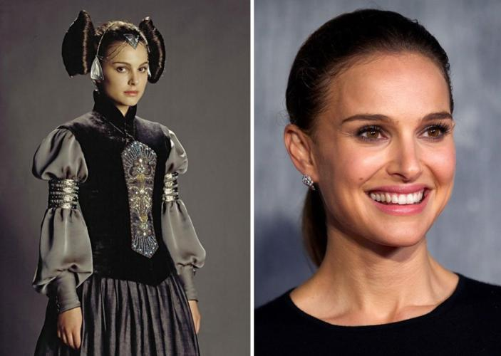 Padme Amidala then and now