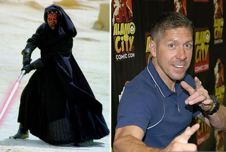 Darth Maul then and now