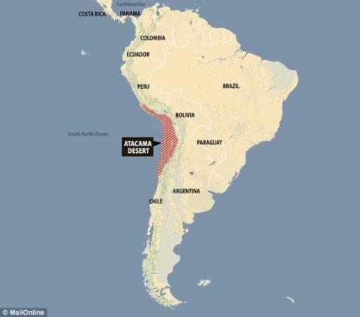 atacama desert on a map 15 Facts About The Atacama Desert The Driest Place On The Planet atacama desert on a map
