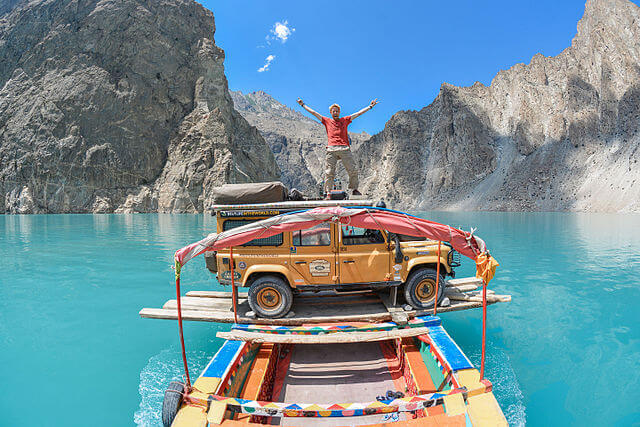 Attaabad lake is one of the lakes in Hunza which formed as a result of Glacier flooding