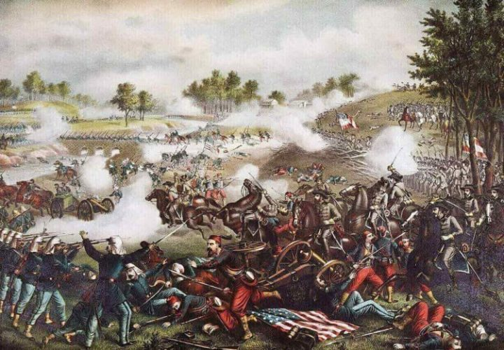 The picture of The First Battle of Bull Run