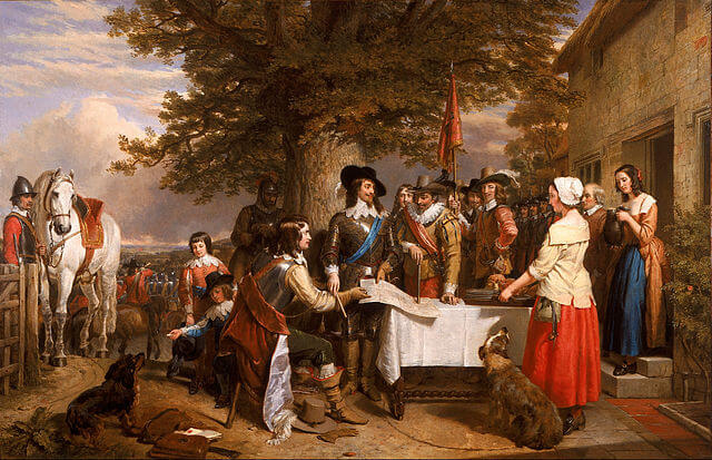 Painting depicting Charles I before the Battle of Edgehill