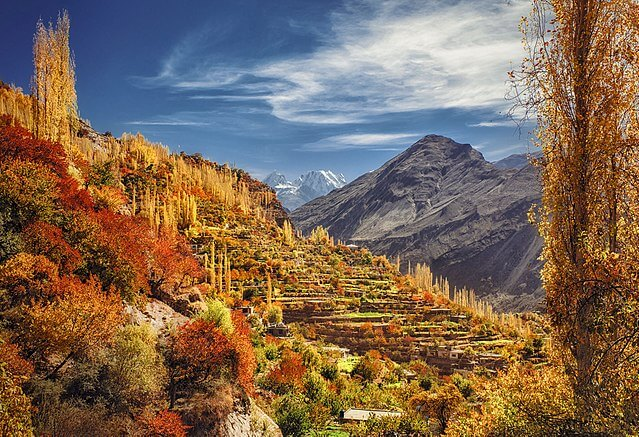 Picture of Hunza Valley during fall