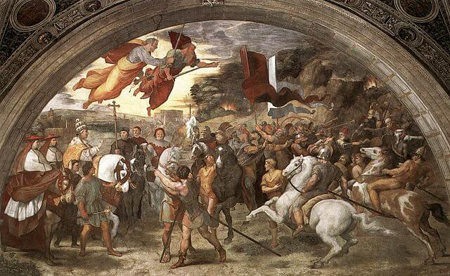 Leo the Great met with Attila the Hun to stop him from attacking Rome