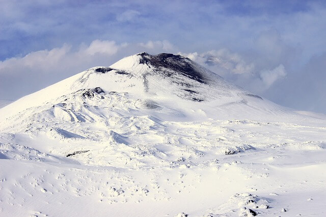 Picture of Mount Etna during winter season