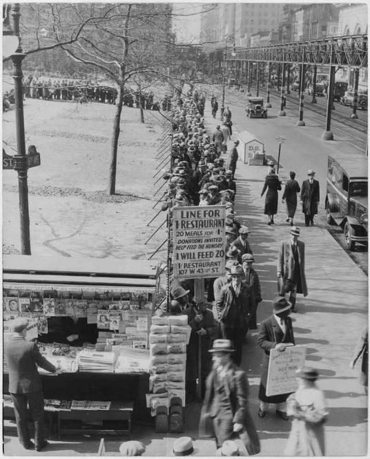 Picture of the Great Depression Breadlines