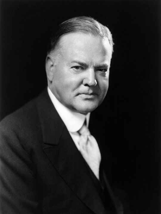 Herber Hoover was the president of the United States during onset of the Great Depression